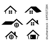 house icon set | Shutterstock .eps vector #649337284