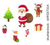 christmas set vector... | Shutterstock .eps vector #649337314