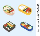 set of different bento.... | Shutterstock .eps vector #649342648
