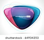 abstract glossy speech bubble... | Shutterstock .eps vector #64934353