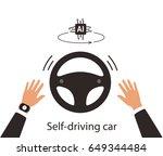 autonomous self driving concept ... | Shutterstock .eps vector #649344484