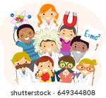 illustration of stickman kids... | Shutterstock .eps vector #649344808