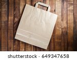recycled craft paper shopping... | Shutterstock . vector #649347658