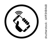 mobile phone in hand icon | Shutterstock .eps vector #649348468
