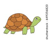 funny cartoon turtle. reptile... | Shutterstock .eps vector #649356820
