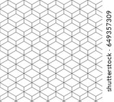 abstract hexagon or square... | Shutterstock .eps vector #649357309