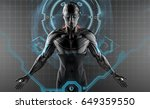 Robot In Virtual Space On...