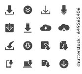 vector download icons set on... | Shutterstock .eps vector #649362406