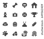 vector dog icons set on white... | Shutterstock .eps vector #649362409