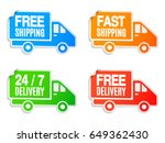 set of free shipping and free... | Shutterstock . vector #649362430