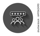 customer reviews  rating  user... | Shutterstock .eps vector #649362490