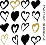 pattern with brush strokes... | Shutterstock .eps vector #649364929