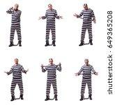 man prisoner isolated on white... | Shutterstock . vector #649365208