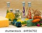 assortment spa accessories... | Shutterstock . vector #64936702