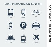 city and public transportation... | Shutterstock .eps vector #649367560