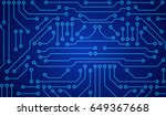 illustration of blue circuit... | Shutterstock .eps vector #649367668