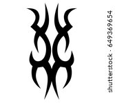 tribal tattoo art designs.... | Shutterstock .eps vector #649369654