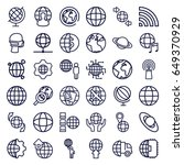 globe icons set. set of 36... | Shutterstock .eps vector #649370929