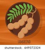 Tamarind Flat Design Vector...