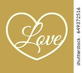 laser cut template with heart... | Shutterstock .eps vector #649372516