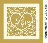 laser cut square template with... | Shutterstock .eps vector #649372558