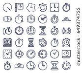 second icons set. set of 36... | Shutterstock .eps vector #649374733