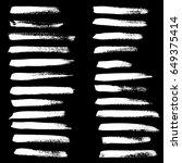 ink vector brush strokes set....   Shutterstock .eps vector #649375414