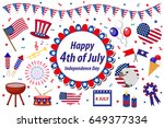 independence day america... | Shutterstock .eps vector #649377334
