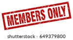 square grunge red members only...   Shutterstock .eps vector #649379800