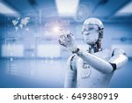 3d rendering robot working with ... | Shutterstock . vector #649380919