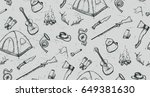 seamless pattern with... | Shutterstock .eps vector #649381630