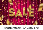 glitter gold grand sale sign... | Shutterstock .eps vector #649382170