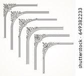 flourishes ornate frame or... | Shutterstock .eps vector #649382233