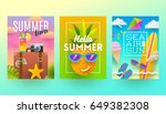 set of summer holidays and... | Shutterstock .eps vector #649382308