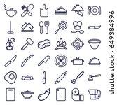 kitchen icons set. set of 36... | Shutterstock .eps vector #649384996