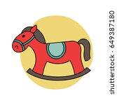 rocking horse for baby  infant... | Shutterstock .eps vector #649387180