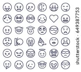 emotion icons set. set of 36... | Shutterstock .eps vector #649387753