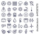 environment icons set. set of... | Shutterstock .eps vector #649387870