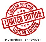 limited edition round red... | Shutterstock .eps vector #649390969