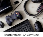 top view a gaming gear  mouse ...   Shutterstock . vector #649394020