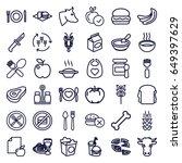 eat icons set. set of 36 eat... | Shutterstock .eps vector #649397629