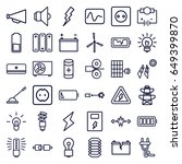 electricity icons set. set of... | Shutterstock .eps vector #649399870