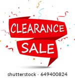 clearance sale with ribbon and... | Shutterstock .eps vector #649400824