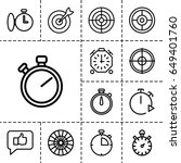 accurate icon. set of 13... | Shutterstock .eps vector #649401760