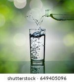 pouring drinking water from...   Shutterstock . vector #649405096
