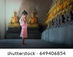 asian children in thai...   Shutterstock . vector #649406854