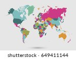 world map countries vector on... | Shutterstock .eps vector #649411144