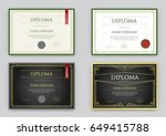 big set of diploma or... | Shutterstock .eps vector #649415788