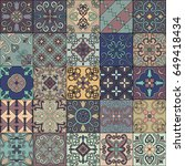 seamless pattern with... | Shutterstock .eps vector #649418434