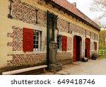old farmhouse in bokrijk ... | Shutterstock . vector #649418746
